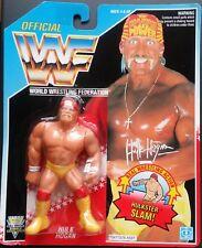 Figura WWF Hasbro Hulk Hogan (Sin Camiseta) Series 5 Tarjeta Azul Neón MOC