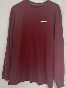PATAGONIA mens red long sleeves shirt size Medium