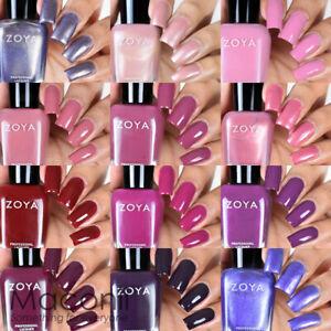 Zoya - Element Collection - Fall Creme Shimmer Glitter Nail Polish Pink Purple