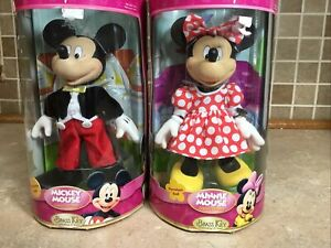 Brass Key Classic Mickey And Minnie Mouse Porcelain Figures Kmart 2006 NEW