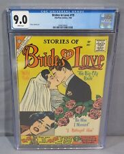 BRIDES IN LOVE #19 (White Pages, Romance) CGC 9.0 VF/NM Charlton Comics 1960