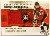 2009-10 ITG Heroes & Prospects Subway SuperSeries Jersey Silver Philippe Paradis