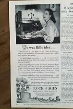 1951 Rock of Ages Barre granite  family burial monuments ad