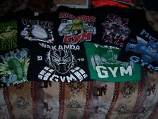 VINTAGE GYM CARTOON SHIRT LOT OF 8      ALL  4 XLT