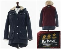 Womens BARBOUR INTERNATIONAL Winter Broadstone Coat Jacket Navy Blue Size 8 12 M