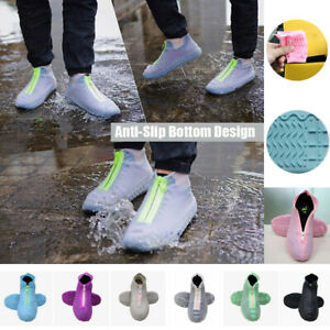 Anti Slip Silicone Overshoes Rain Waterproof Shoe Boot Cover Protector with Zip