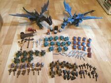 Mega Bloks Dragons Krystal Wars minifigure and weapons lot with dragons