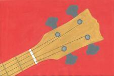 KAY SHORT SCALA Bass Guitar-Un dipinto originale di R. McCutcheon