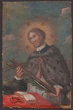 Ölgemälde Miniatur Hl. Joannes von Nepomuk San Giovanni Nepomuceno Barock 18.Jh.