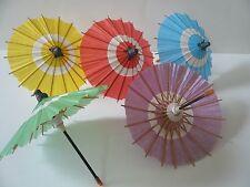 Set of 5 Japanese Hand-made Kasa Multi-Color Mini Umbrella Paper Parasol Deco