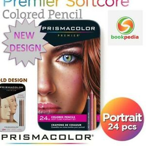 Sanford Prismacolor Premier Colored Pencils Portrait Set Soft Core 24 -Count