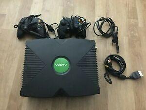 Console Microsoft xbox premiere generation - cables + 2 manettes + disque dur