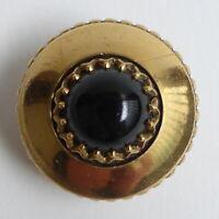 Bouton ancien - Laiton doré - 26 mm - Pigeon eye gilt brass button