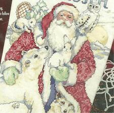Bucilla FATHER WINTER  & FRIENDS,Counted XStitch STOCKING Kit,MPN 83436,GILLUM