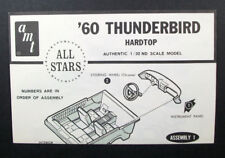 AMT All Stars 1:32 '60 Thunderbird Hardtop; INSTRUCTIONS ONLY; Assembly leaflet