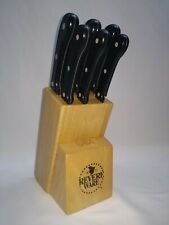 Revere Ware 6 PC. Knife Block Set Chef Slicing Paring Serrated Knives