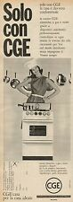 J0423 Cucine elettriche e a gas CGE - Pubblicità - 1961 Vintage Advertising
