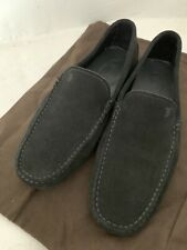 MENS TODS GOMMINO BLACK SUEDE DRIVING SHOES - 7.5UK/41.5EU