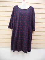 Sheego Navy Blue dress size 20 print detail Jersey Knit BNWT  G045