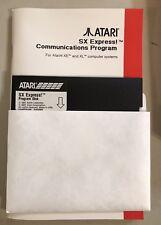 SX Express Software for Atari XL/XE w/SX-212 Modem New no box & no SIO Cable