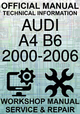 #OFFICIAL WORKSHOP MANUAL SERVICE & REPAIR AUDI A4 B6 2000-2006