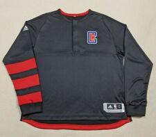 🏀 NWOT Adidas LA Clippers On Court Warm Up Jacket Men's Large Sample Black/Red