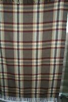 """Vintage Wool Motor Robe Blanket American Woolen Co. Inc measures 60"""" x 70"""""""