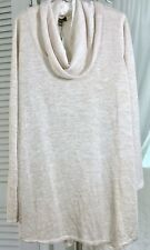 NEW~ Plus Size 3X Ivory Gold Cowl Neck Tunic Top Shirt Sweater $78
