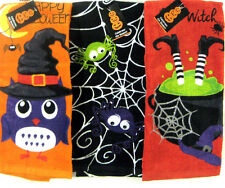Halloween Kitchen Guest Hand Towels Owl Witch Spider Web