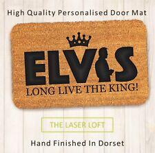 Elvis The King PVC Backed Novelty Funny Custom Coir Door Mat 40cm x 60cm
