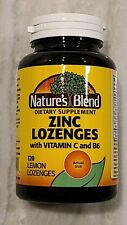 Nature's Blend Zinc Lozenges with Vitamin C & B6 for Immune Support 120 Tablets