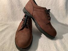 Women's Ansi Z41 Red Wing Oxford Shoes Brown Leather Steel Toe Size 7.5 NWOB