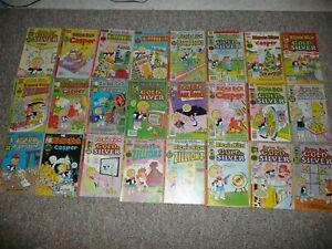 24 RICHIE RICH Comic Lot!!! Harvey Comics Gold Silver Casper Bank Books