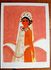 Menguy Frederic lithographie originale signée numérotée 1/100- MARIAGE