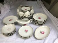 Imperial Rose Fine China Japan #6702 Dinnerware Set Cups, Saucers