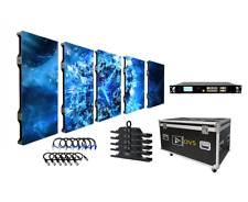 NEW 8-FOOT WIDE P3 HIGH-RES LED VIDEO WALL 5 DOUBLE-SIZE PANEL PACKAGE w/ SCALER