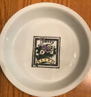 "Vintage BIA Cordon Bleu Ceramic Pottery-9 1/2"" Baking Pie Plate-Pansy Seeds-"
