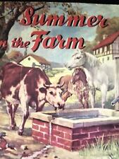 SUMMER ON THE FARM Vintage Childrens Book HC 1938 B BUTLER Illus. COUNTRY LIFE