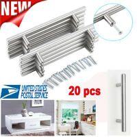 20Pcs SOLID Stainless Kitchen Cabinet Handle T Bar Pull Hardware Drawer Pulls US