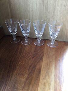 Stuart Crystal Sherry Glasses. Port Glasses. Set of Four.