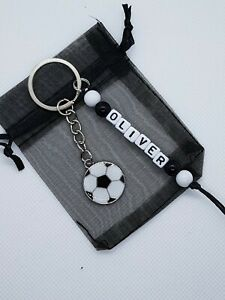 *personalised* Football keyrings, football party, boys party bag fillers,