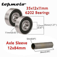USA SELLER!! Mini Bike Axle Kit 5//8x10 With Thick Washers And Lock Nuts