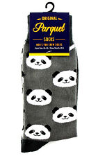 Panda Bear Mens Gray Crew Socks Fun Novelty Casual Fashion Animal Gift New
