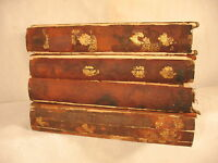 lot RARE ANTIQUE OLD LEATHER BOOKS 1789 THE TATLER SPECTATOR GEORGE P WRAGGE
