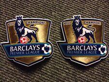 2 Barclays Premier League 10/11 Football Shirt CHAMPIONS Manche Ourlet