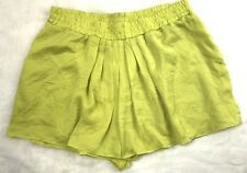 Decjuba Womens Soft Yellow Pleat Autumn Summer Dress Shorts Size 14