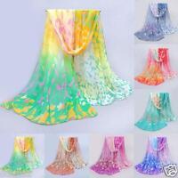 New Women Silk Printed Scarves Girls Soft Chiffon Shawl Wrap Wraps Scarf Scarves