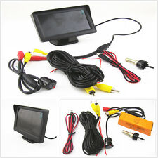 Universal 18.5mm Mini CCD DC12V Rearview Backup Camera + 4.3inch LCD Screen