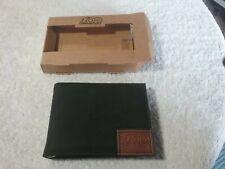 Snap On Tools Men genuine leather slim bifold wallet black new