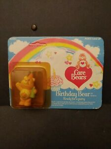 Vintage 1984 Care Bears Birthday Bear Ready for a party Mini Figurine